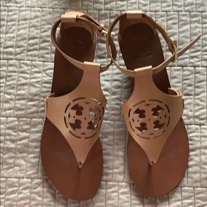 Authentic Tory Burch Zoey wedge sandals.